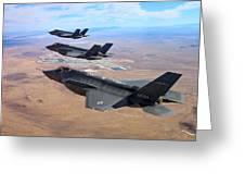 Lockheed Martin F-35 Lightning II Greeting Card