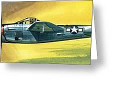 Lockheed P-38j Lightning Greeting Card