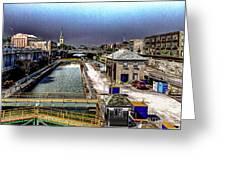 Lockport Canal Locks Greeting Card