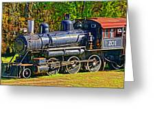 Locomotive 201 Greeting Card