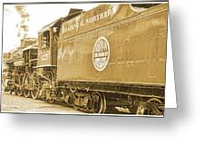 Locomotive And Coal Car Of Yesteryear Greeting Card
