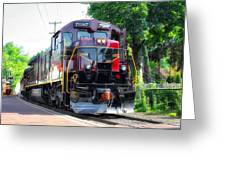 Locomotive In Color Greeting Card
