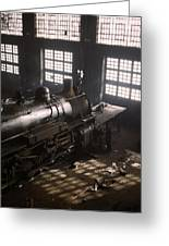Locomotive Repair Shop - December 1942 Greeting Card