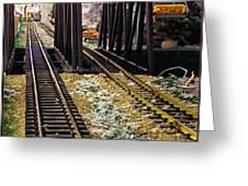 Locomotive Tracks Greeting Card