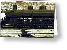 Locomotive Vector Greeting Card