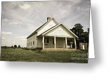 Locust Prairie One Room School Aged Greeting Card