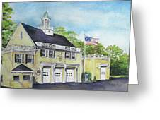 Locust Valley Firehouse Greeting Card