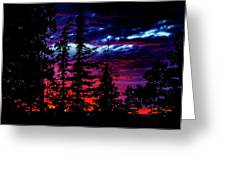 Lodge Sunset Greeting Card