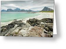 Lofoten Island Beach Scene Greeting Card