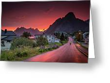 Lofoten Nightlife  Greeting Card