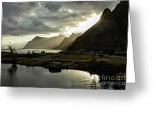 Lofoten Sunset 5 Greeting Card