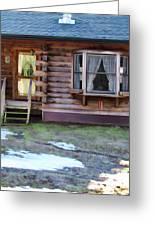 Log Cabin 1 Greeting Card