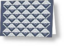 Log Cabin Blues Quilt Greeting Card