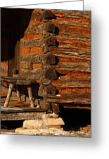 Log Cabin Greeting Card by Robert Frederick
