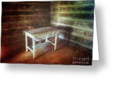 Log Cabin Table Greeting Card