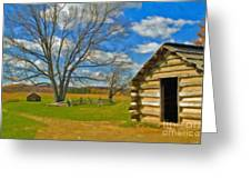 Log Cabin Valley Forge Pa Greeting Card
