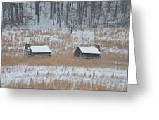 Log Cabins In Valley Forge Greeting Card