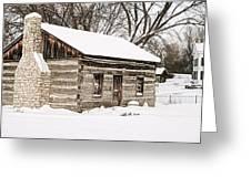 Log Home Greeting Card