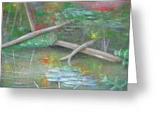 Log In The Pond Greeting Card