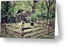 Log Structure For Storage Greeting Card