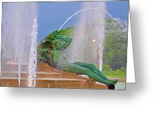 Logan Circle Fountain 3 Greeting Card
