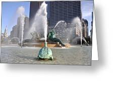 Logan Circle Fountain Greeting Card