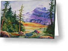 Logan Pass Greeting Card