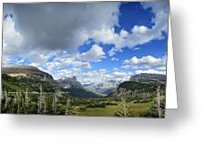 Logan Pass Panorama - Glacier National Park Greeting Card