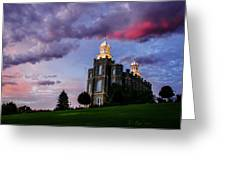 Logan Temple Heaven's Light Greeting Card