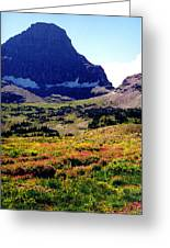 Logans Pass In Glacier National Park Greeting Card