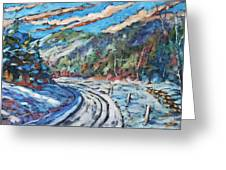 Loggers Road  Greeting Card