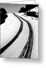 Logging Road In Winter Greeting Card by Mark Duffy