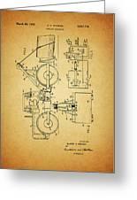 Logging Truck Patent Greeting Card