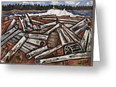 Logjam  Greeting Card