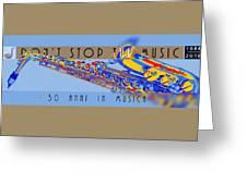 Logo Sax Hd Greeting Card