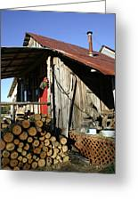 Logs For Winter Greeting Card
