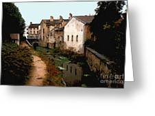 Loire Valley Village Scene Greeting Card