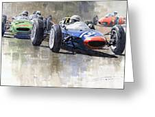 Lola Lotus Cooper Ferrari Datch Gp 1962 Greeting Card