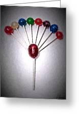Lollipop Balloons  Greeting Card