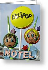 Lollipop Motel - North Wildwood New Jersey Greeting Card