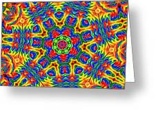 Lollipops Kaleidoscope 2 Greeting Card