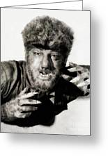 Lon Chaney, Jr. As Wolfman Greeting Card