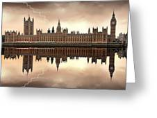London - The Houses Of Parliament  Greeting Card