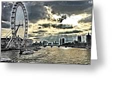 London A View From A Bridge  Greeting Card