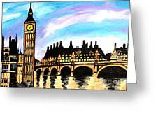 London After Eight Greeting Card