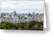London Along The River Thames Greeting Card