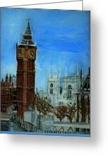 London Big Ben Clock  Greeting Card by Leslye Miller