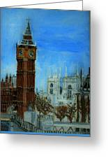 London Big Ben Clock  Greeting Card