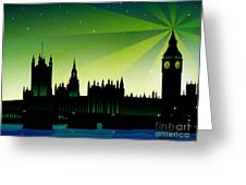 London Big Ben Greeting Card by Sandra Hoefer