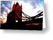London Bridge No 3 Greeting Card
